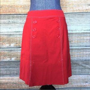 Vintage Clio Mod Red Mini Skirt Style #L156425
